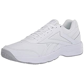 Reebok Men's Work N Cushion 4.0 Walking Shoe, Cold Grey/White, 8