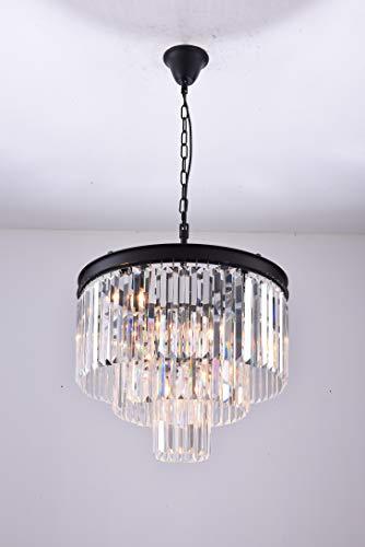 Zgear 7 Lights Luxury Modern/Contemporary Crystal Chandelier Ceiling Light Pendant Light for Dining Room, Living Room (7 Lights)