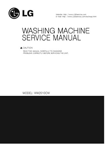 lg wm2010cw service manual lg amazon com books rh amazon com LG WM2010CW Problems LG Direct Drive WM2010CW