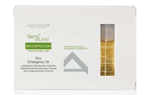 Diamante Alfaparf Lino Di Semi (Alfaparf Semi Di Lino Reconstruction SOS Emergency Oil Kit, 6 Count)