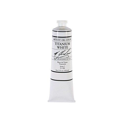 M. Graham 5-Ounce Tube Oil Paint Titanium White (M Graham Titanium White)