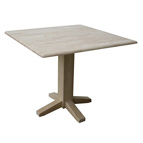 International Concepts Square Dual Drop Leaf Dining Table, 7 by (International Concepts Square Dining Table)