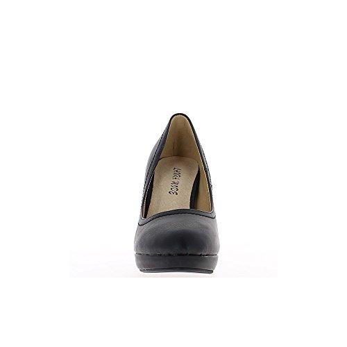 Talón de los zapatos negro de las mujeres 8, 5cm