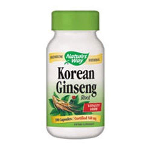 Natures Way Korean White Ginseng Root Capsule, 560 Mg - 50 per Pack - 3 Packs per case.