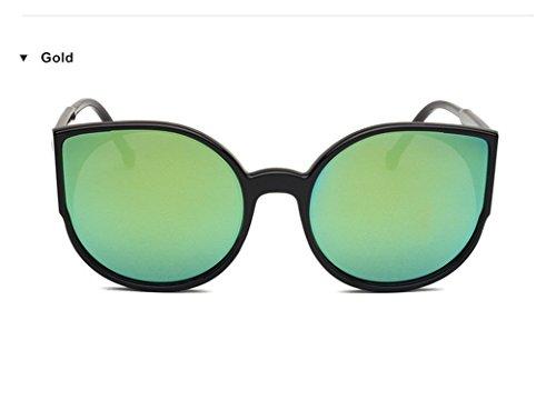 Cat Eye Retro Sunglasses Reflective Mirror Cateyes Sunglasses (Sniper Mirror Goggles)
