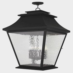 Livex Lighting 20253-04 Hathaway 6-Light Outdoor Hanging Lantern Lantern, Black by Livex Lighting
