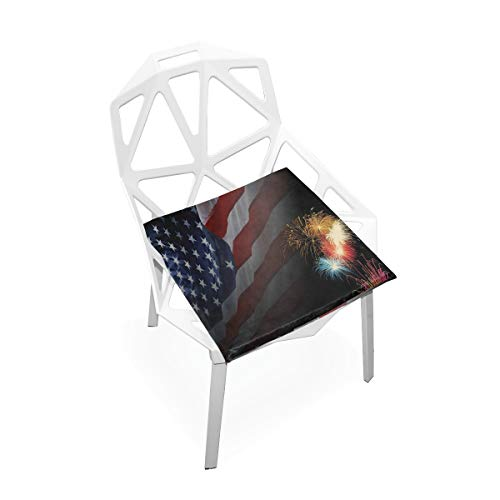 Pingshoes Seat Cushion Great Independence Day Chair Cushion Offices Butt Chair Pads Square Car Mat for Computer