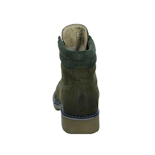 BOXX 75.262 Damen Stiefel Schnürstiefel Warmfutter Blockabsatz Grün (Green)