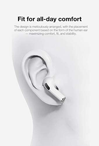 Wireless Earbuds Bluetooth 5.0 Headphones 3D Stereo CVC8.0 Noise Canceling True Wireless Earbuds with Fast Charging Case,One-Step Pairing for iPhone/Samsung/Android Apple AirPods Pro Earphones 31KFEdo5ZCL