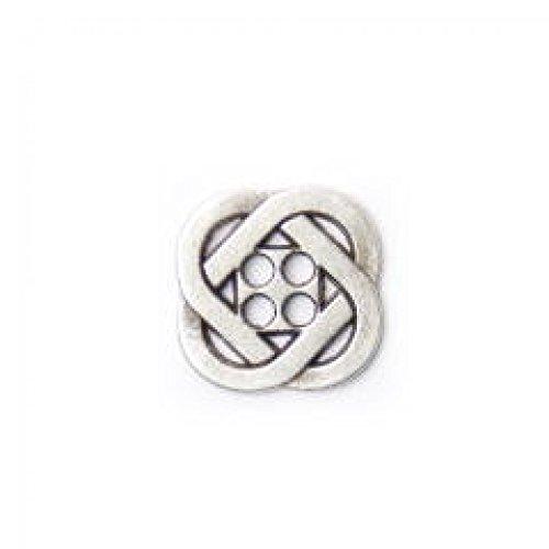Crendon Celtic Knot Design Metal Buttons Silver - per button