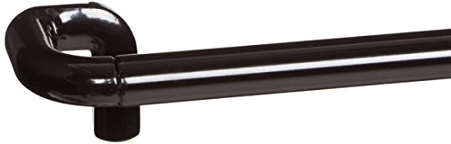 "Twilight Full Face - Umbra Twilight Room Darkening Curtain Rod –  Wrap Around Curtain Rod Perfect for Blackout Curtains, Telescoping Curtain Rod, 88"" to 144"", Bronze"