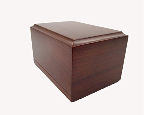 - Little Daisy Pet Walnut wood veneer with MDF Box Pet Urn