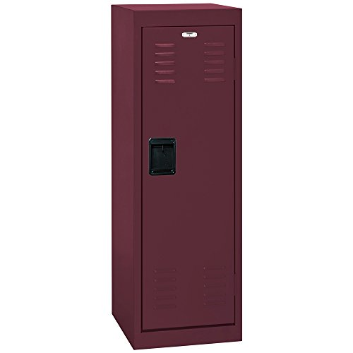 BUDDY PRODUCTS Single Tier Burgundy Welded Steel Locker, 48