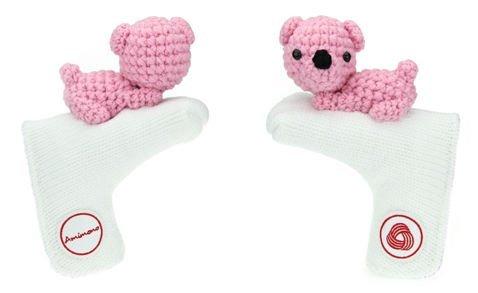【人気急上昇】 Amimono B00ATRGB52 Bearパターゴルフヘッドカバー ホワイト/ピンク Amimono B00ATRGB52, みづの屋:4ee5cbff --- a0267596.xsph.ru