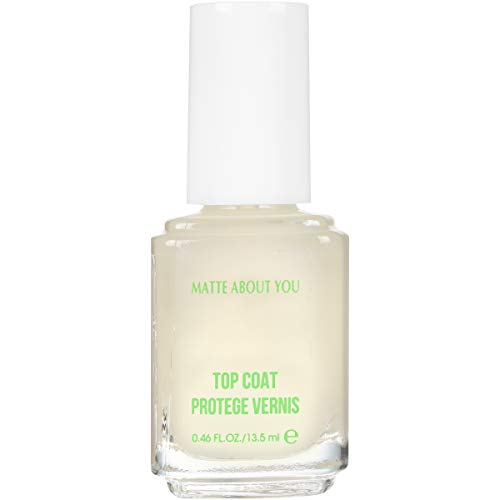 essie Top Coat Nail Polish, Matte About You Top Coat, Mattify, 0.46 Fl. Oz.