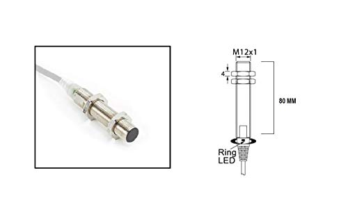 RADWELL VERIFIED SUBSTITUTE 871T-L2A12-SUB Replacement of Allen Bradley 871T-L2A12, Proximity Sensor, INDUCTIVE, Cylindrical, Chrome Plated Brass, Shielded, 12MM Threaded, 2MM Range, PNP, N/O Output,