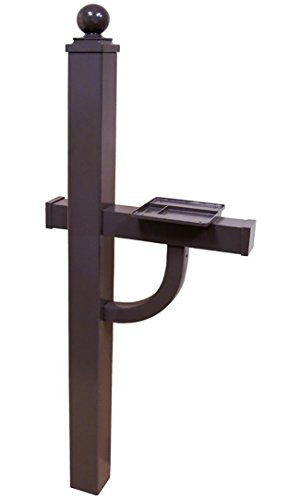 (Gaines Manufacturing Keystone Aluminum Deluxe Mailbox Post in Bronze)
