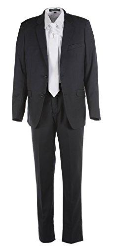 Tuxgear Boys Black Slim Fit Communion Suit With Silver Cross Dress Tie (Boys 7) by Tuxgear