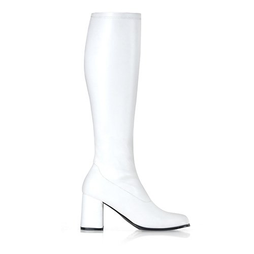 White Gogo Boots Wide Calf (GoGo-300 Shoes - Size 16 Wide Calf)