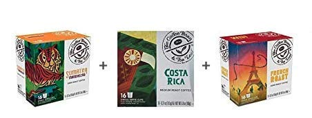 The Coffee Bean & Tea Leaf Single-Serve 48 Count K-Cup Bundle with Sumatra Mandheling Dark Roast, French Dark Roast…