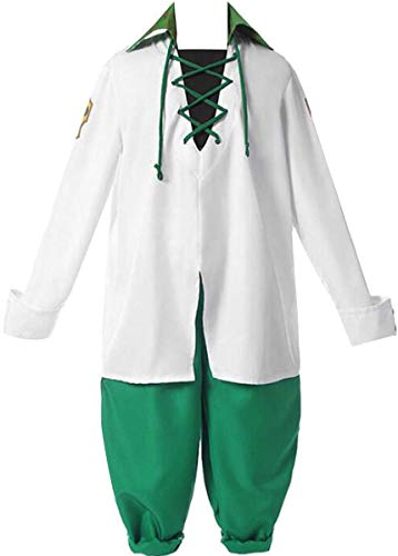 Poetic Walk Anime Seven Deadly Sins Cosplay Meliodas Cosplay Costume Dragon's Sin of Wrath Costume (X-Small, Green-Mens)