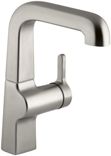 KOHLER K-6335-VS Evoke Secondary Single Control Kitchen Sink Faucet, Vibrant (Kohler Evoke Single)