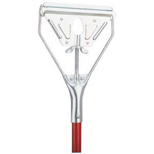 Libman Commercial 981 Steel Mop Handle, 65'' Length, 6'' Width, Red (Pack of 6) by Libman Commercial