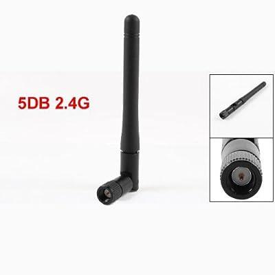 12G Black 5Db 2.4G Sma Male Wifi Wireless Adapter Network Lan Card Antenna