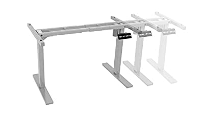 Ergo Elements Adjustable Height Standing Desk with Electric Push Button Base