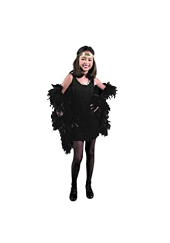 CHILD X-Small 4-6X - Fuchsia Fringed Flapper Dress (Boa, gloves, headpiece and stockings not include