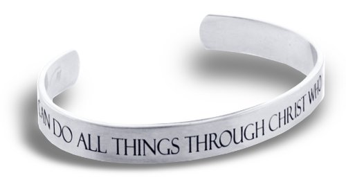Forgiven Jewelry Phil 4:13 Cuff Bracelet I CAN DO ALL THINGS THROUGH CHRIST