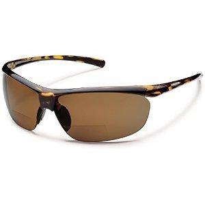 (Suncloud Zephyr Prescription Bifocal Reading Sunglasses - Tortoise/Brown Polarized +2.50)