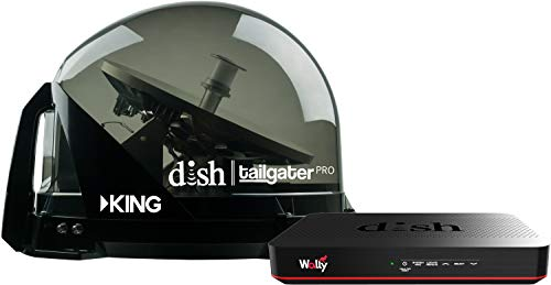 (KING DTP4950 DISH Tailgater Pro Bundle - Premium Portable/Roof Mountable Satellite TV Antenna and DISH Wally HD Receiver)