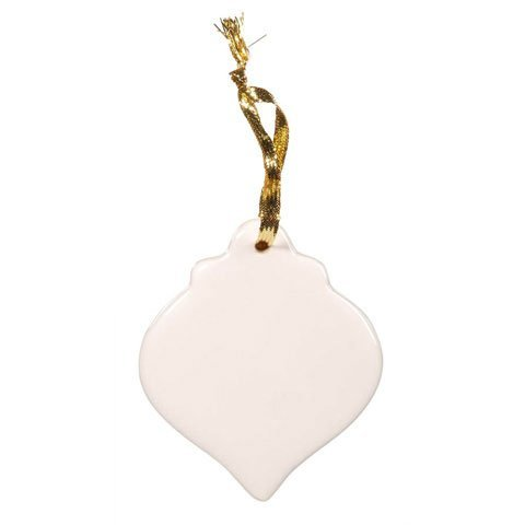 Ornament Ornament Round Round (Bulk Buy: Darice DIY Crafts Porcelain Ornament Round Spindle Shape 3.5 inches (6-Pack) 6651-87)