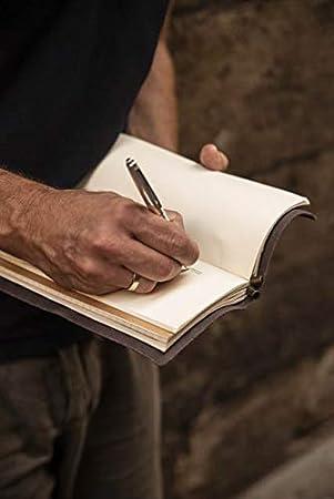 Cuaderno de piel genuina Travel diary Cuaderno de viaje 22 x 12cm Hecho en Barcelona Travelers notebook
