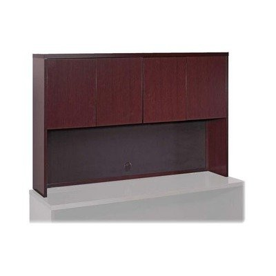 (Lorell Stack-on Storage - 60quot; Width x 14quot; Depth x 39quot; Height - Fluted Edge - Hardwood - Mahogany, Veneer)