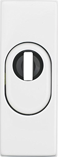 ABUS RSZS316W SB Protective Escutcheon Plate with Cylinder Protection for Metal Doors White - Cylinder Escutcheon Plate
