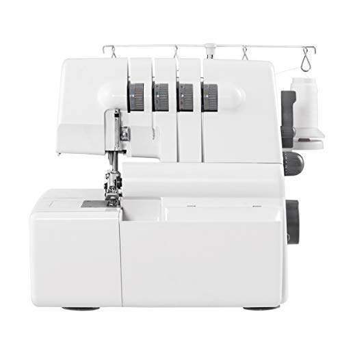 (COSTWAY Sewing Machine Portable Multifunctional 2 Needle 4 Thread Capability Serger Over Lock with Differential Feed)