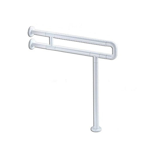 (Grab Bar Bathroom Handrail, 60cm*70cm Two Colors U-Shaped Stainless Steel Non-Slip Safety Handle Disabled Elderly Barrier-Free Bathroom Shower Shower Handle Bathroom Balance Bar (Color : White))