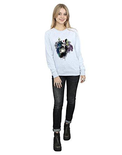 Gris Mujer Disney Villains Entrenamiento Cuero Camisa Sketch De TS0dwS