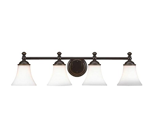 Hampton Bay 4-Light Crawley Oil Rubbed Bronze Vanity Fixture