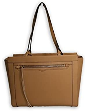 Monroe Saffiano Leather Tote - Sand