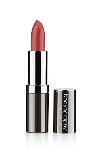 - Bodyography Moisturizing Lipstick (Elizabeth): Matte Raisin Satin, Long-Wearing Hydrating Salon Makeup with Aloe Vera | Gluten-Free, Cruelty-Free, Paraben-Free