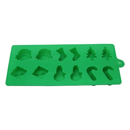 2 Merry Christmas Silicone Christmas Molds for cake, cookies, chocolate, fudge, ice, and cooking