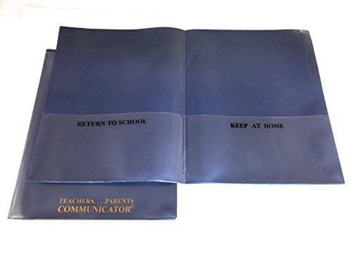 Nicky's Communicator Folder (Pack of 3), Flexible Plastic Folder for Letter Size Papers (Metallic (Teacher Parent Communication)
