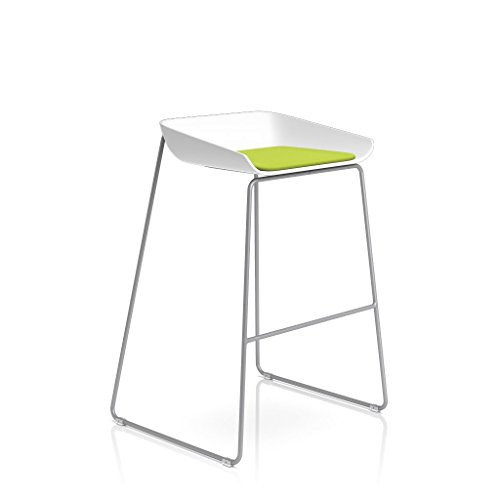 Steelcase Platinum Base with Hard Floor Glides Scoop Stool, Wasabi by Steelcase