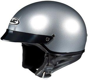 Hjc CS-2N Lt. Silver SIZE:LRG Open Face Motorcycle Helmet