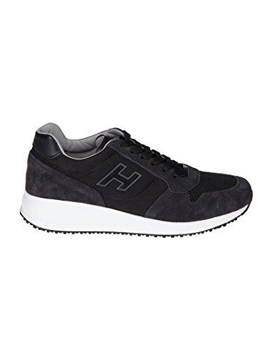 Hogan Mannen Hxm2460k670igh0533 Blauw / Zwart Suède Sneakers