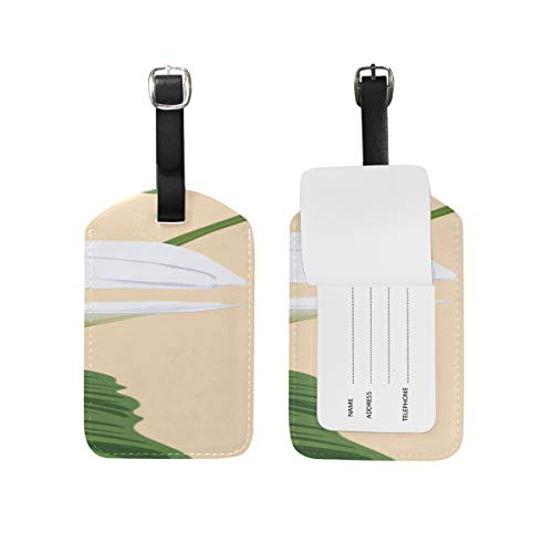 (Id Labels Business Card Suitcase Luggage Tag Calla White Floral Romatic)