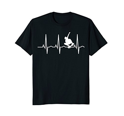 Skateboard Heartbeat Shirt Skater T-Shirt for Skateboarders